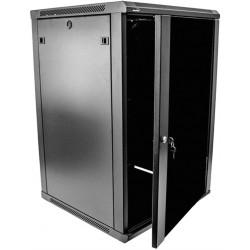 Rack 18U Wallmount Cabinet de servidor de 19 pulgadas con puerta de vidrio
