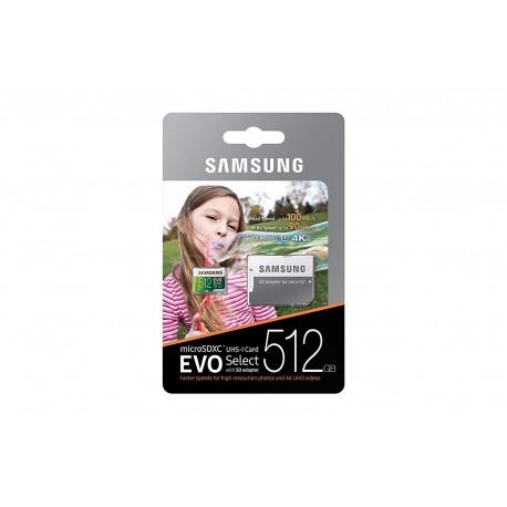 Samsung MB-ME32GA/AM - Tarjeta de memoria microSDHC EVO Select de 32 GB con adaptador 512 GB