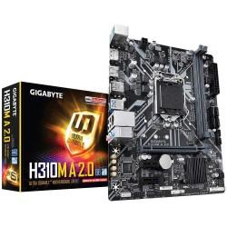 GIGABYTE H310M A 2.0 (LGA1151/ Intel/ H310/ Micro ATX/ DDR4/ HDMI 1.4/ M.2/ Placa base)