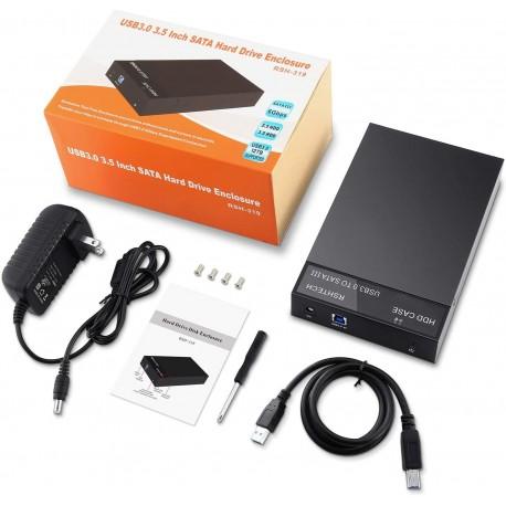 Caja externa USB 3.5 SATA y SSD hasta 10TB