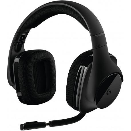 Logitech G533 parlantes inalámbricos para juegos. DTS 7.1 sonido envolvente. Audio Pro-G