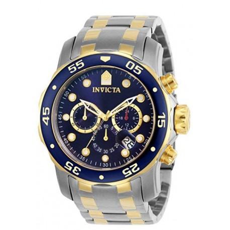 Invicta 0077 Pro Diver Reloj cronógrafo esfera azul